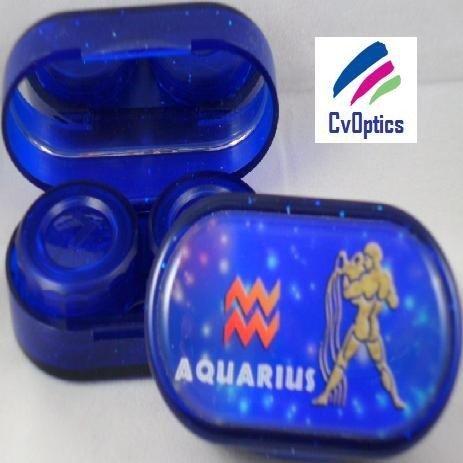 Aquarius Star sign Contact Lens Soaking Case