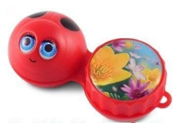 Ladybird 3D Contact Lenses Storage Soaking Case