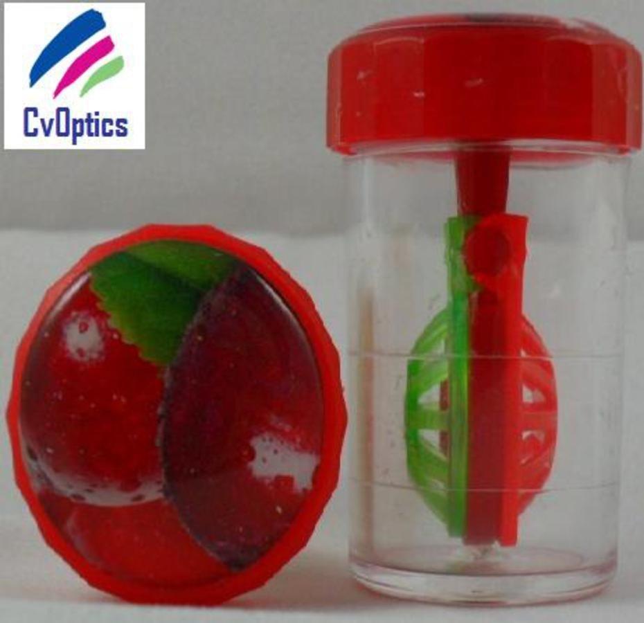 Cherry Fruit Contact Lens Storage Soaking Barrel Case