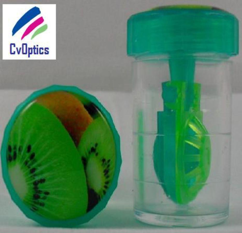 Kiwi Fruit Contact Lens Storage Soaking Barrel Case