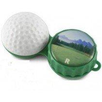 Golf Ball 3D Contact Lenses Storage Soaking Case