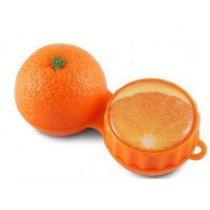 Orange 3D Contact Lenses Storage Soaking Case