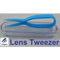 Blue Scissor Style Tweezers For Handling Contact Lenses